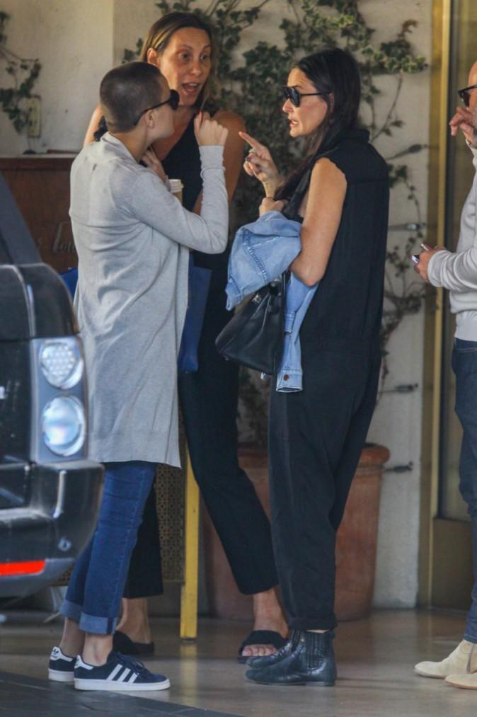 Tallulah Willis et Demi Moore à Los Angeles le 23 novembre 2014