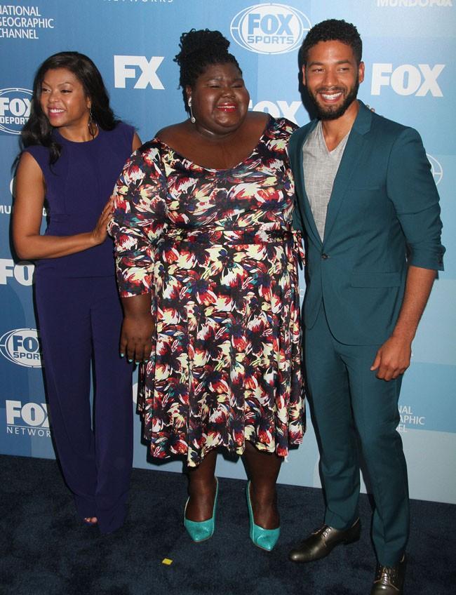 Taraji P. Henson, Gabourey Sidibe et Jussie Smollett à la soirée de la FOX organisée à New-York le 11 mai 2015