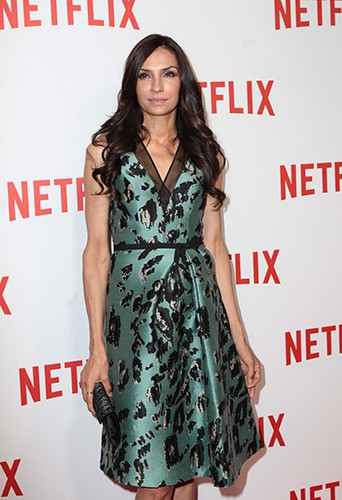 Famke Janssen à Paris le 15 septembre 2014