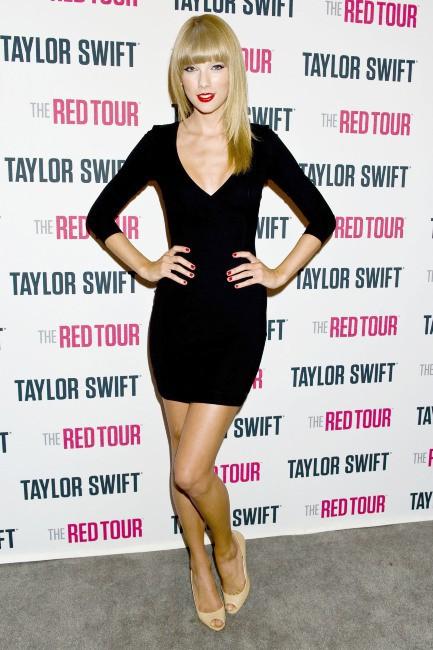 Taylor Swift lors du photocall de son concert à Los Angeles, le 19 août 2013.