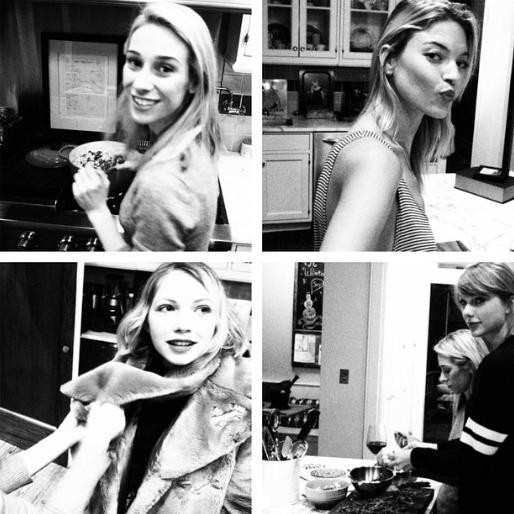 Taylor Swift, Karlie Kloss, Martha Hunt et Ashley Avignone
