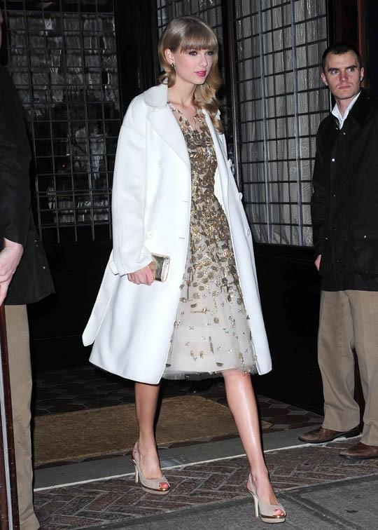 Taylor Swift à New-York le 3 décembre 2012