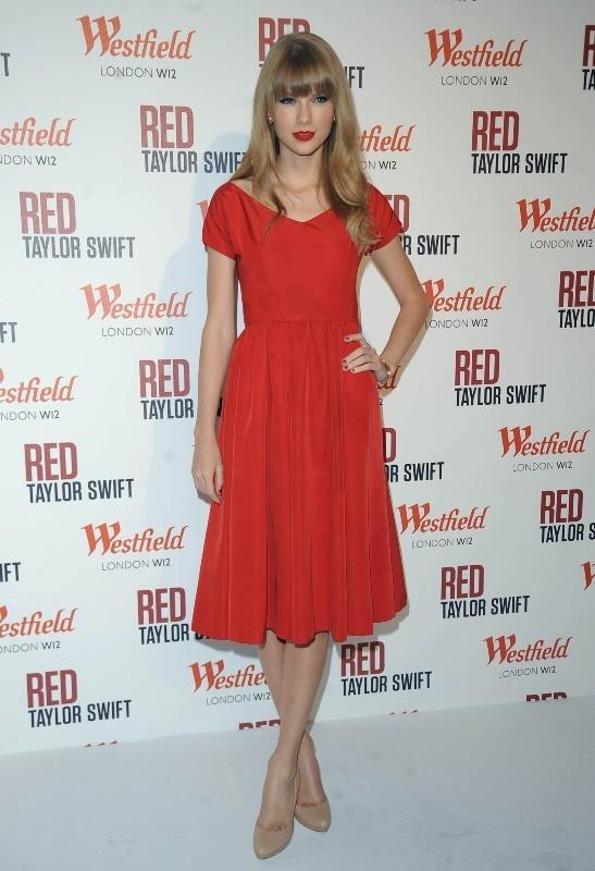 Taylor Swift, Londres, 6 novembre 2012.
