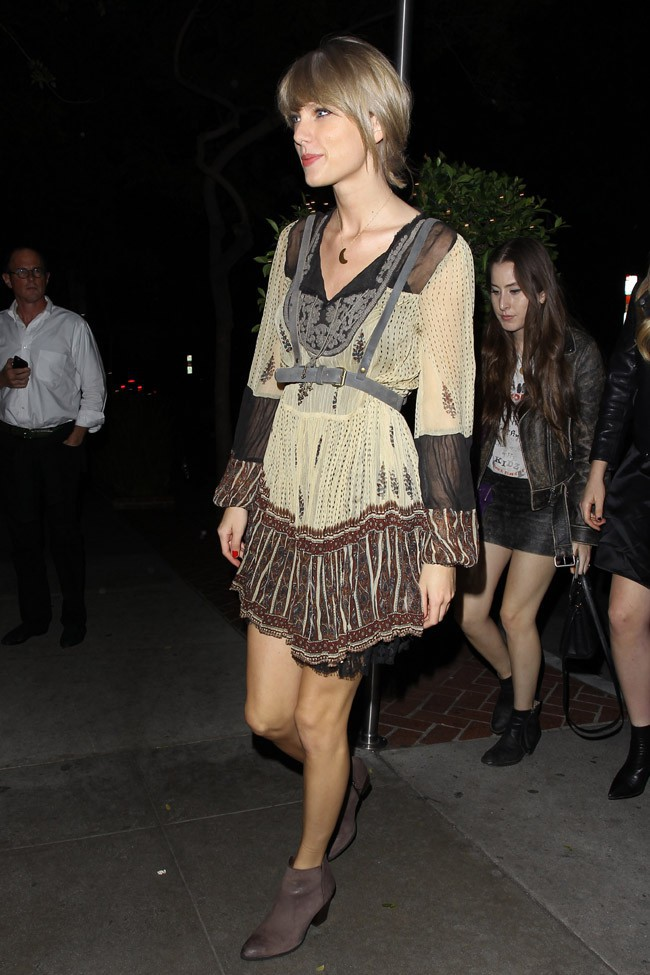 Taylor Swift à West Hollywood le 14 janvier 2015