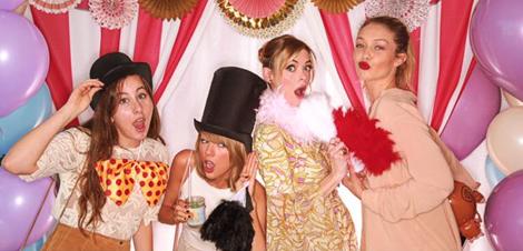 Taylor Swift, Gigi Hadid, HAIM et Jaime King le 14 juin 2015