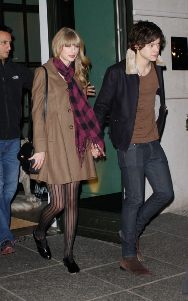 Taylor Swift et Harry Styles le 7 décembre 2012 à New York