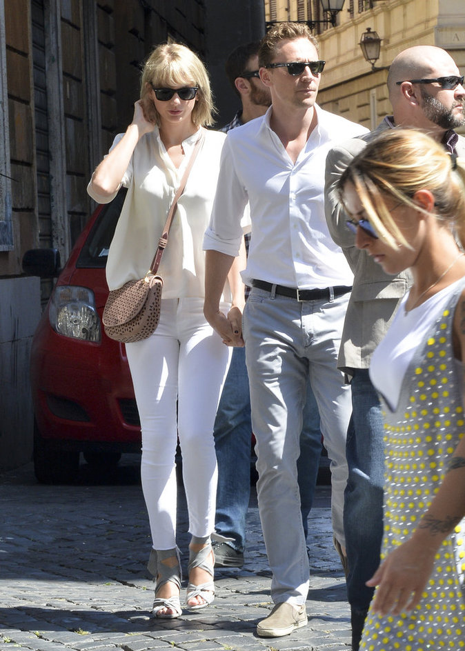 Tom Hiddleston et Taylor Swift à Rome