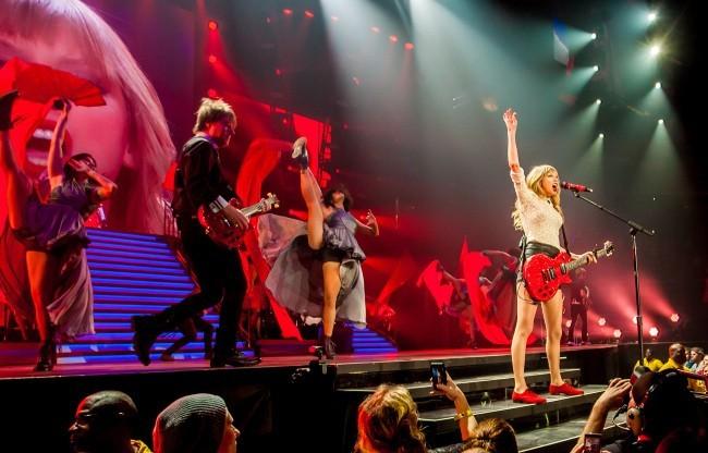 Taylor Swift en concert à Columbia, le 23 mars 2013.