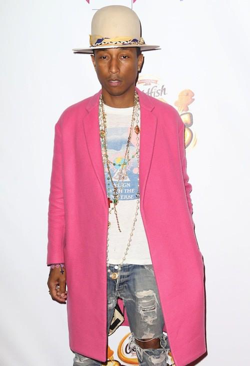 Pharrell Williams au Jingle Ball 2014 à New York, le 12 décembre 2014
