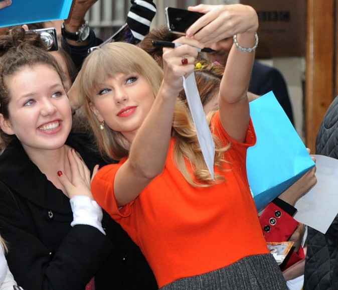 Taylor Swift à Londres le 5 octobre 2012