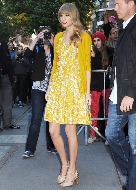 Taylor Swift à New-York le 22 octobre 2012 pour la sortie de son nouvel album