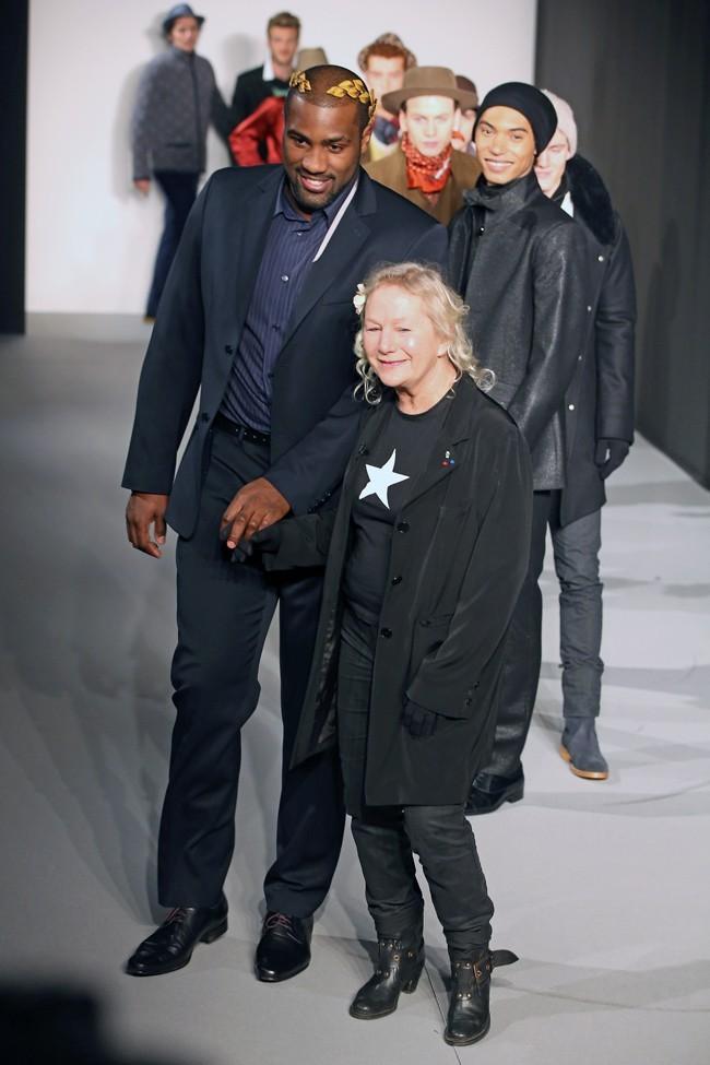 Teddy Riner au défilé Agnès b. à Paris le 20 janvier 2013