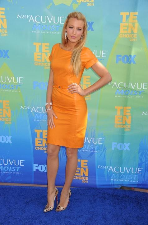 Blake Lively lors des Teen Choice Awards à Los Angeles, le 7 août 2011.