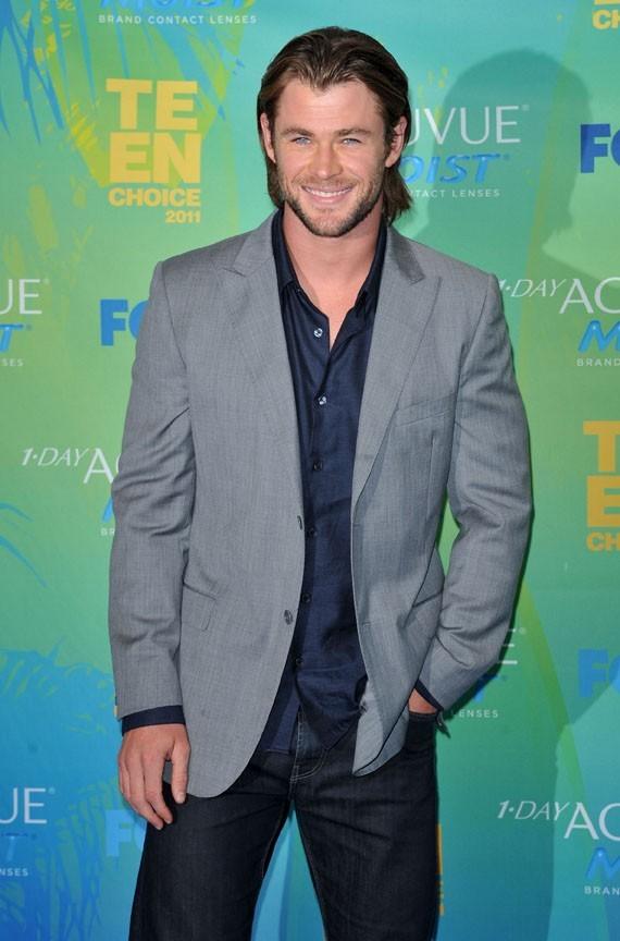 Chris Hemsworth lors des Teen Choice Awards à Los Angeles, 7 août 2011.