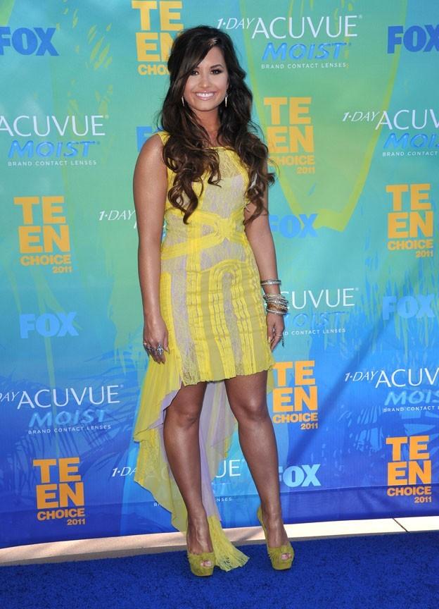 Demi Lovato lors des Teen Choice Awards 2011 à Los Angeles, le 7 août 2011.