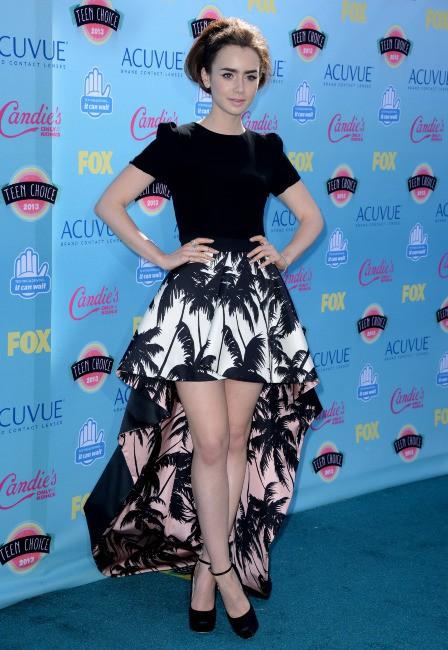 Lily Collins lors des Teen Choice Awards à Los Angeles, le 11 août 2013.