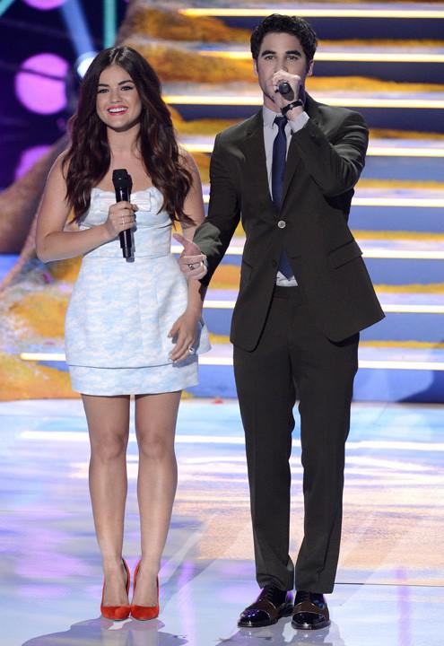 Lucy Hale et Darren Criss à la soirée des Teen Choice Awards 2013, à Los Angeles, le 11 août 2013