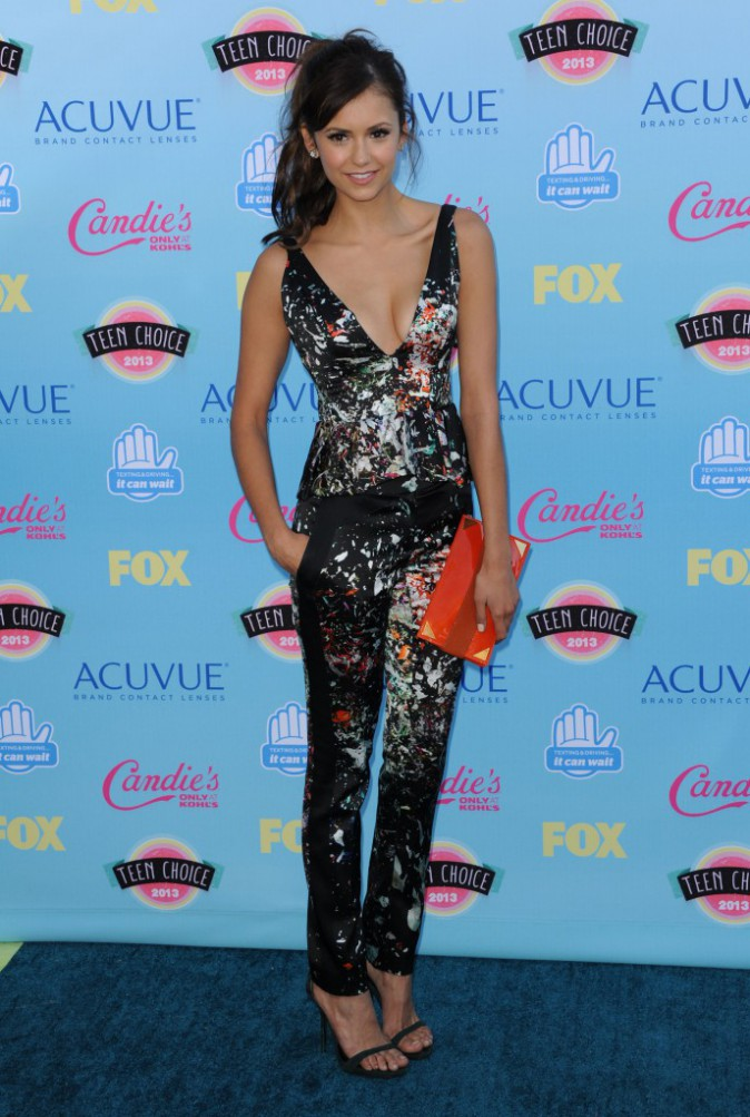 Nina Dobrev lors des Teen Choice Awards à Los Angeles, le 11 août 2013.