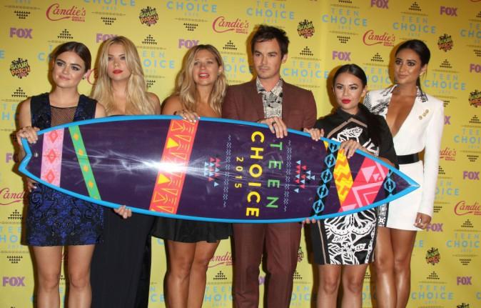Lucy Hale, Ashley Benson, Janel Parrish et Shay Mitchell le 16 août 2015