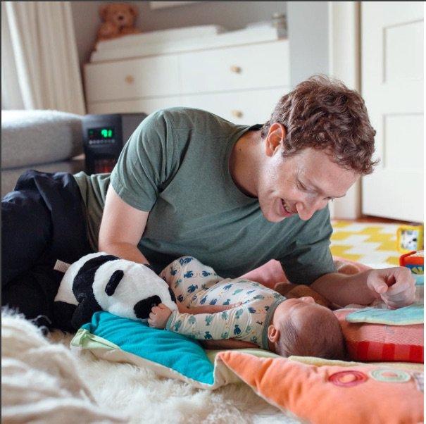 Mark Zuckerberg, sa première fête des pères!