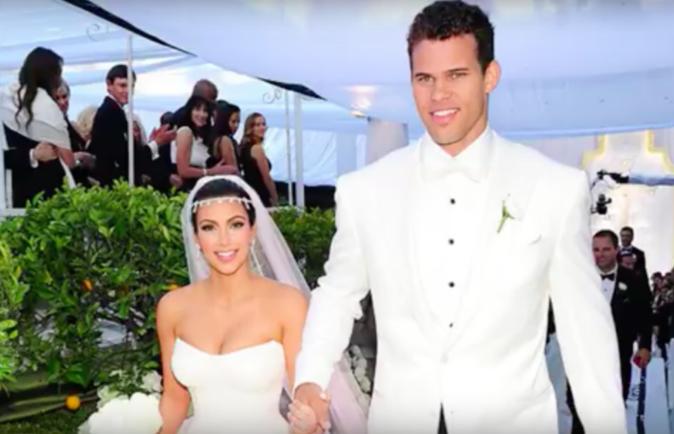Kim Kardashian et Kris Humphries le jour de leur mariage