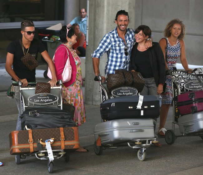 Thomas Vergara à l'aéroport de Los Angeles le 13 août 2013