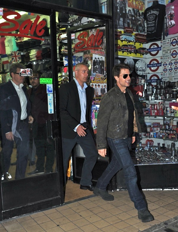 Tom Cruise à Londres le 23 août 2012