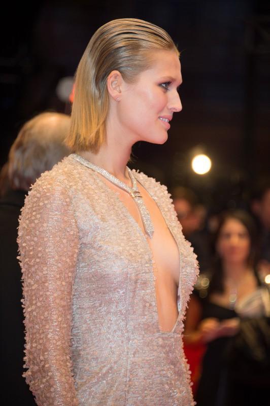 Toni Garrn lors de la cérémonie d'ouverture de la 64e Berlinale, le 6 février 2014.