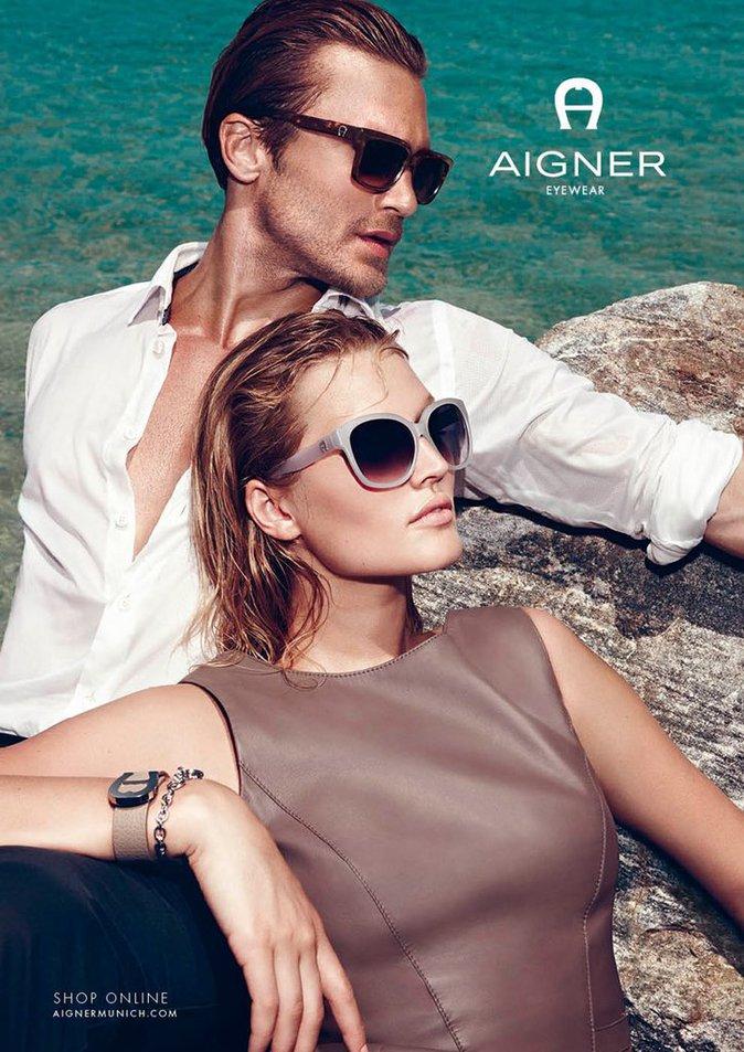 Photos : Toni Garrn : sublime en naïade innocente pour la nouvelle campagne de la marque Aigner