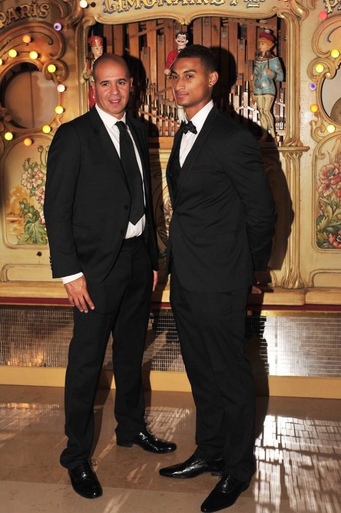 Cut Killer et Boris Diaw lors de la 7e édition du Par Coeur Gala à Lyon, le 20 septembre 2012.