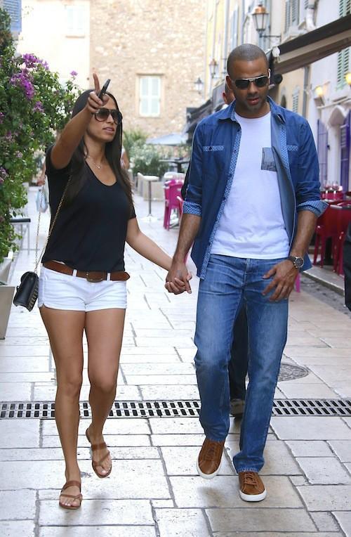 Photos : Tony Parker et Axelle Francine : vacances en amoureux à Saint-Tropez !