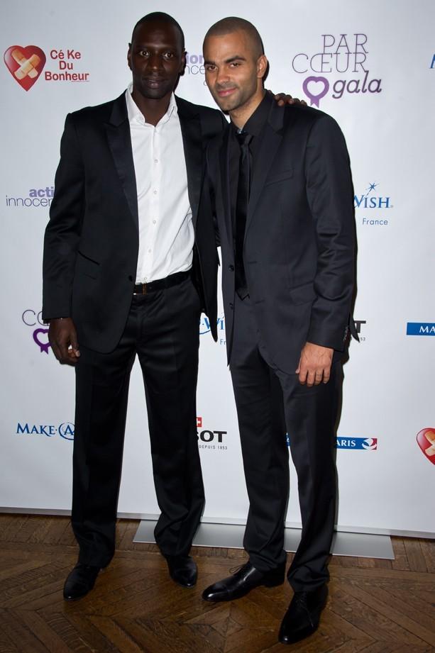 Avec le comique Omar Sy