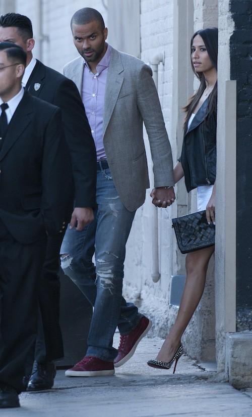 Photos : Tony Parker : le basketteur s'affiche avec sa chérie, Axelle Francine, ultra slim moins de deux mois après avoir accouché !
