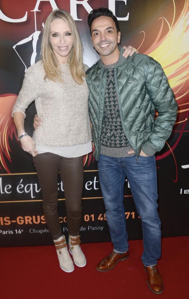 Tonya Kinzinger et Kamel Ouali à Paris le 20 novembre 2014