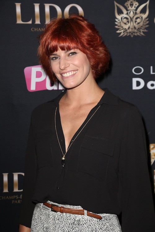Fauve Hautot au Top Model Belgium 2015, à Paris, le 10 mai 2015