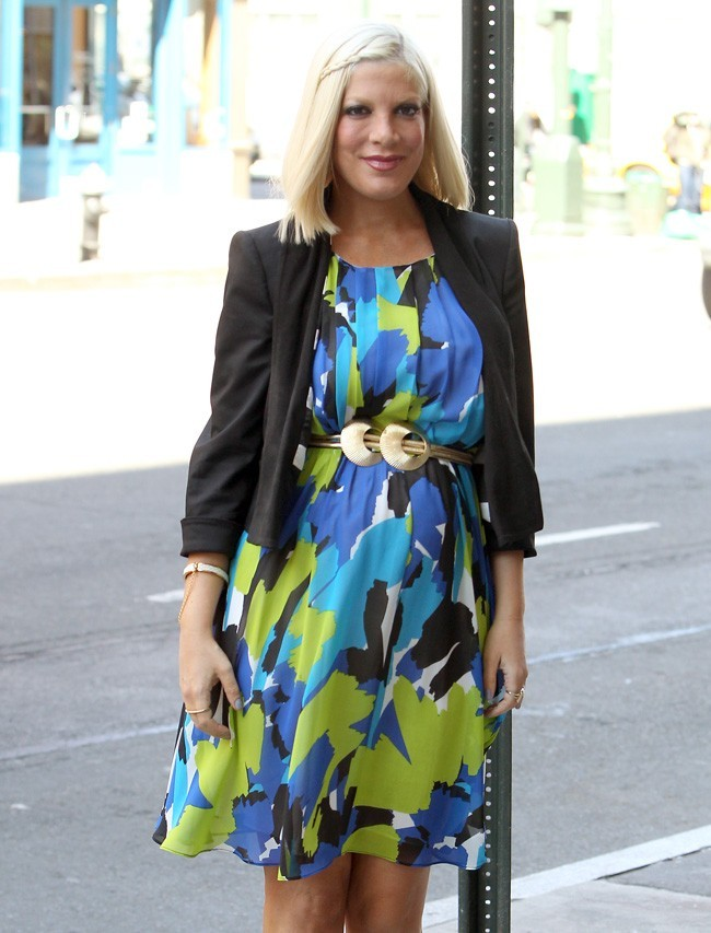 Tori Spelling le 3 avril 2012 à New York