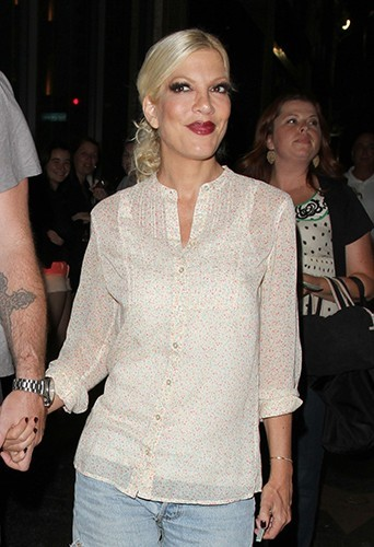 Tori Spelling à Hollywood le 6 juillet 2013