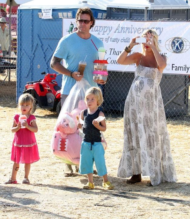 La famille venait pour la seconde fois à la fête foraine de Malibu !
