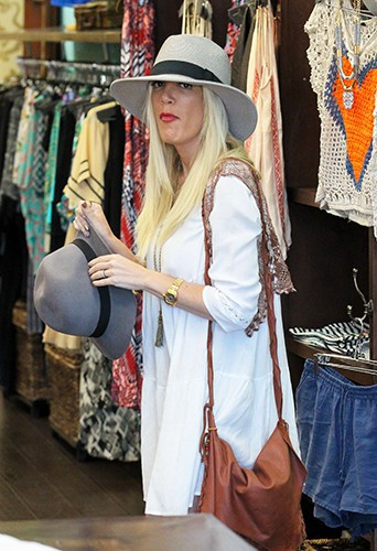 Tori Spelling à Los Angeles le 29 avril 2014
