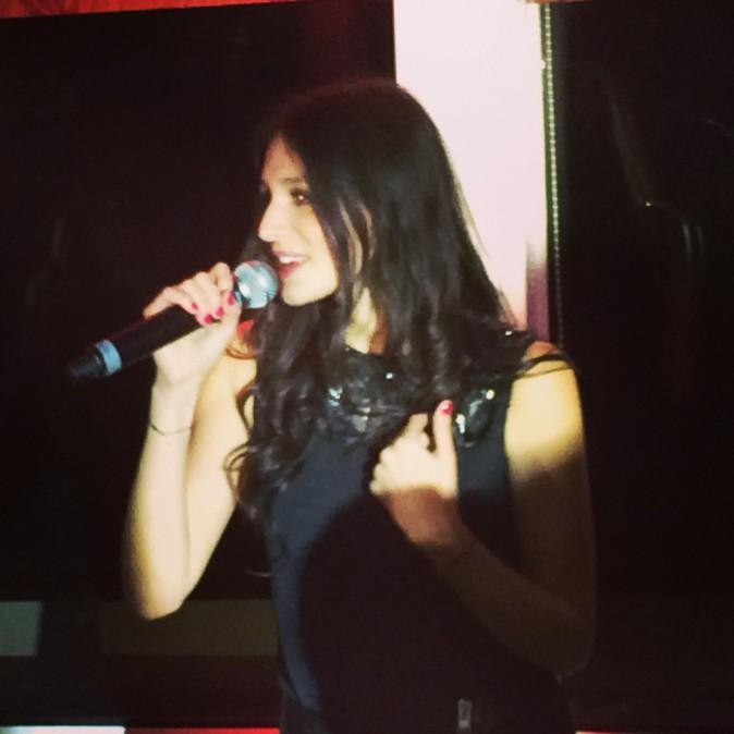 Pauline lors de la tournée Pop Love Chérie fm à Paris, le 29 janvier 2013.