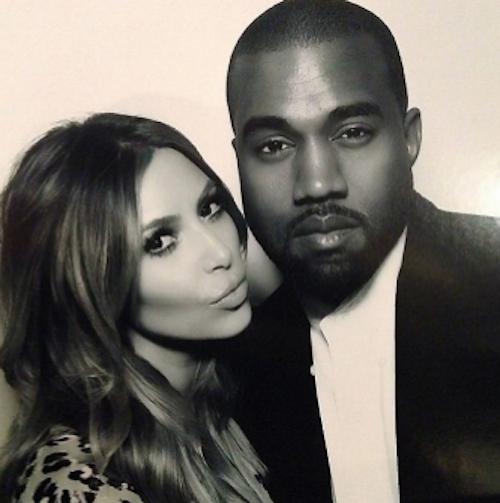 Kim et Kanye West...