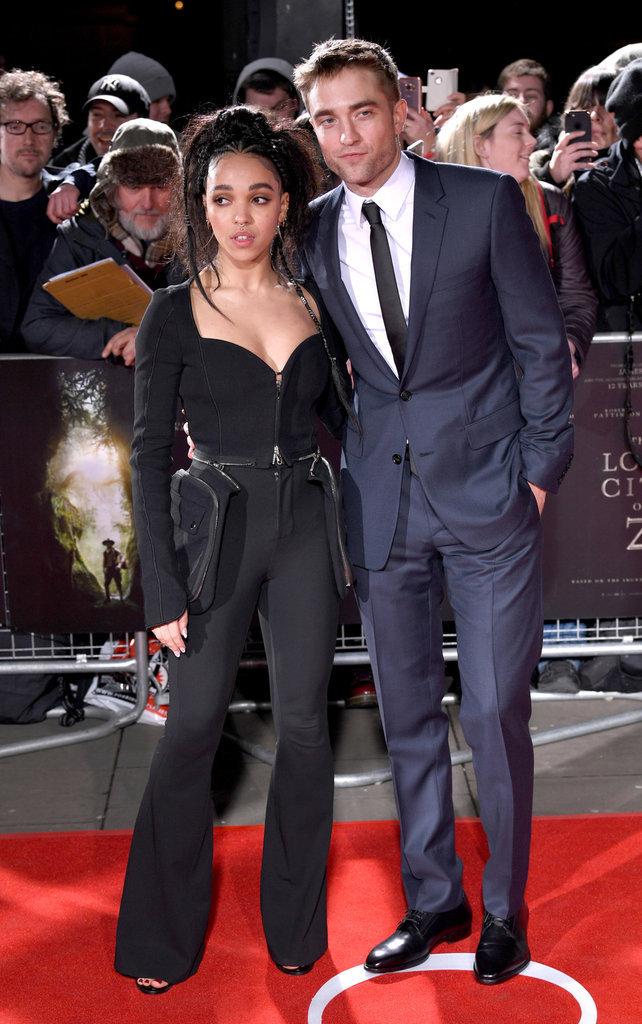 Robert Pattinson et FKA Twigs assistent à la première de The Lost City of Z à Londres le 16 février 2017
