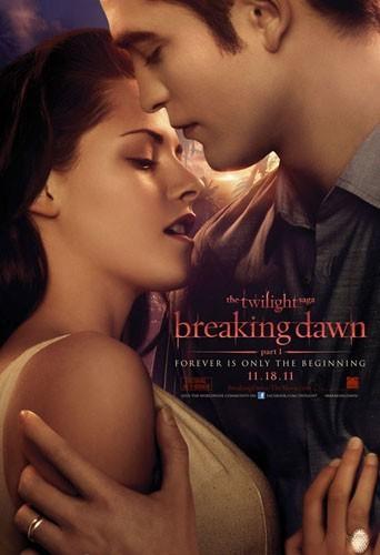 """Kristen Stewart et Robert Pattinson sur l'affiche du film """"Twilight Chapitre 4 : Révélation - part 1"""" !"""