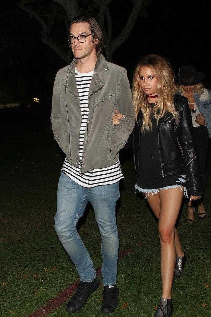 Ashley Tisdale et son mari au concert de Beyoncé à Los Angeles le 15 mai 2016