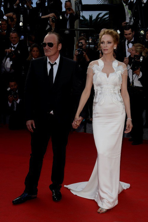 Uma Thurman et Quentin Tarantino au Fesrival de Cannes en mai 2014