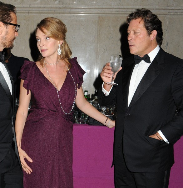 Uma Thurman et Arpad Busson lors de la soirée Annual Brazil Foundation Gala Party à New York, le 19 septembre 2012.