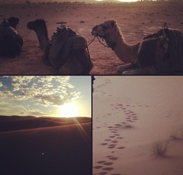 Photos : Usher : il se la joue nomade dans le désert marocain !
