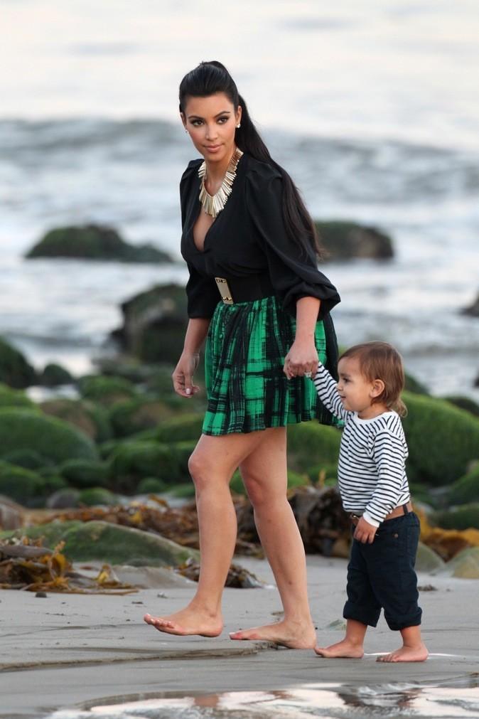 Kim Kardashian se promène avec son neveu !