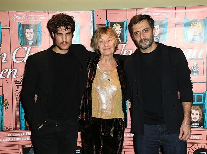 Louis Garrel, Marisa Borini et Filippo Timi à Paris le 29 octobre 2013