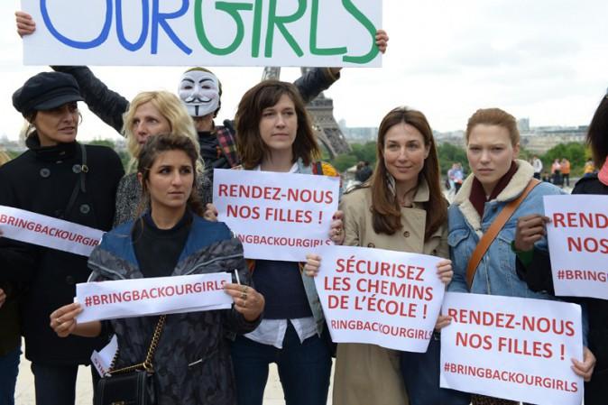 Valérie Trierweiler, Carla Bruni-Sarkozy, Sonia Rolland... Toutes au Trocadéro pour soutenir les lycéennes nigérianes enlevées !